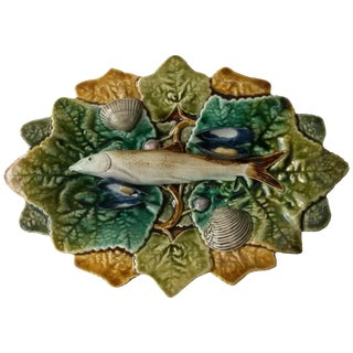19th Century Victorian Majolica Palissy Wall Platter