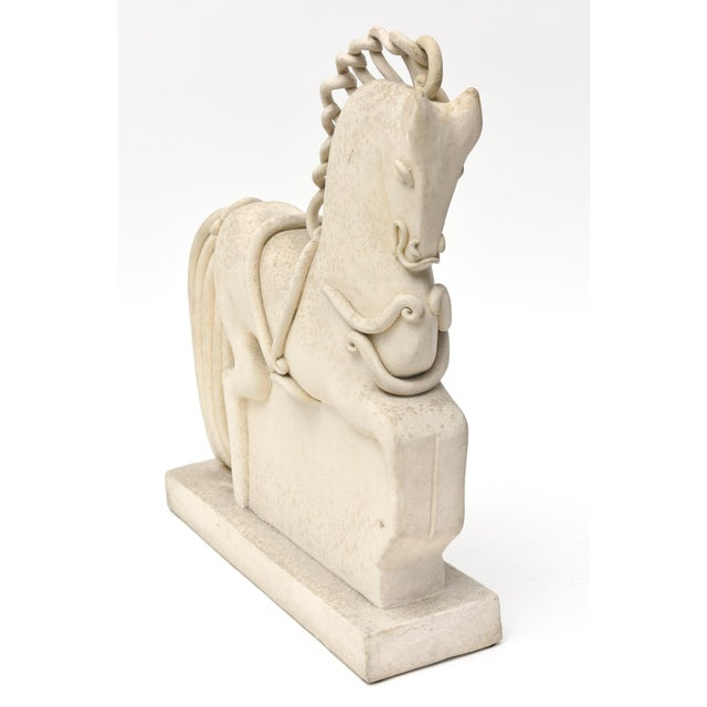 American Classical Italian Ceramic Horse by Colette Guedin for Primavera For Sale - Image 3 of 10