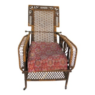 """Royal"" Antique Bamboo Chinese Throne Chair"