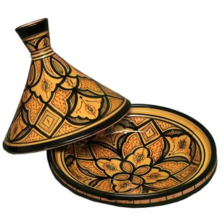 Moroccan Ceramic Lidded Bowl For Sale