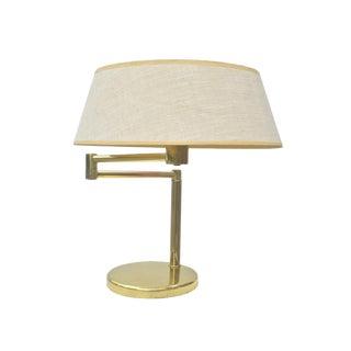 Mid-Century Brass Desk Lamp by Walter Von Nessen
