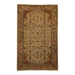 Antique Indian Agra Gallery Size Rug with Art Deco Style For Sale