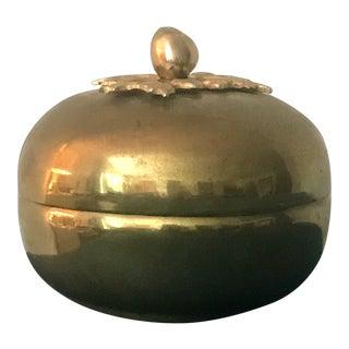 Vintage Mid-Century Modern Brass Apple Box For Sale