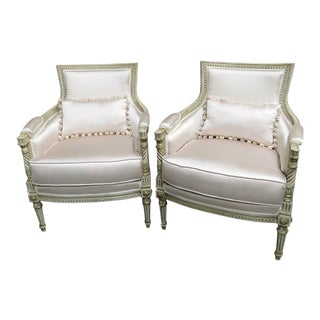 Louis XVI Style Bergeres - a Pair For Sale