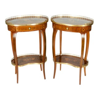 Antique French Louis XV Style Side Tables - a Pair For Sale