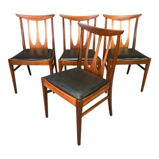 """Set of Four Vintage British Mid Century Teak """"Brasilia"""" Dining Chairs by G Plan For Sale"""