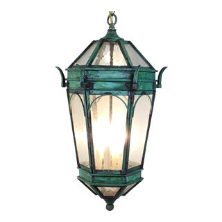 Hand Crafted Solid Brass Six Sides Lantern