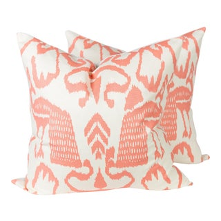 Orange China Seas Bali Isle Pillows - A Pair