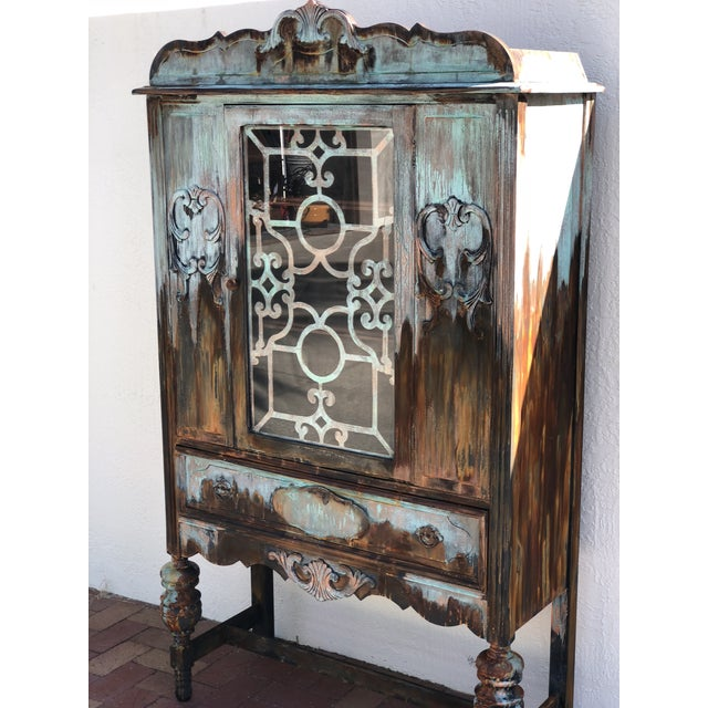 Copper and Rust Patina Cabinet - Image 3 of 8