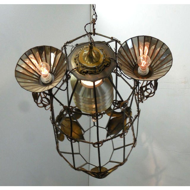 Industrial Steampunk Rocket Chandelier For Sale - Image 3 of 10