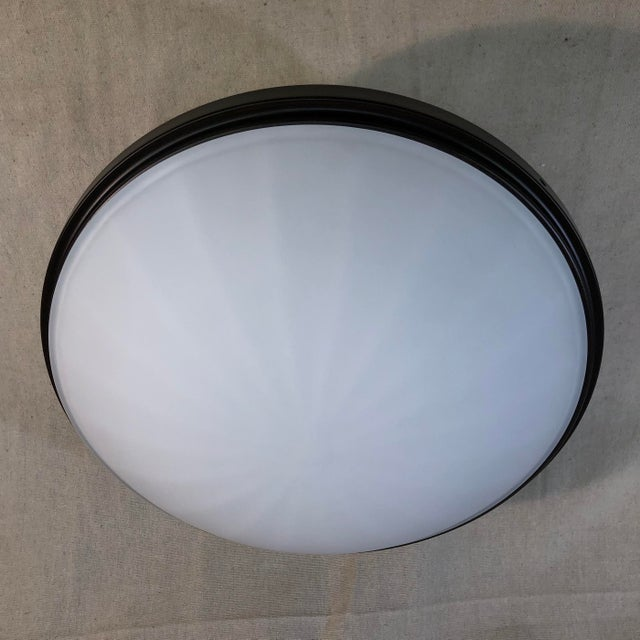 Bronze Feiss 2-Light Perry Semi-Flush Mount For Sale - Image 8 of 9