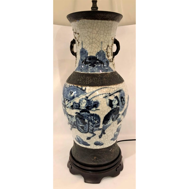 """Antique 19th Century Chinese """"Warring States"""" Porcelain Lamp."""