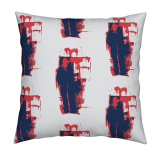 Keith Indigo Geranium Pillow by Kerri Rosenthal