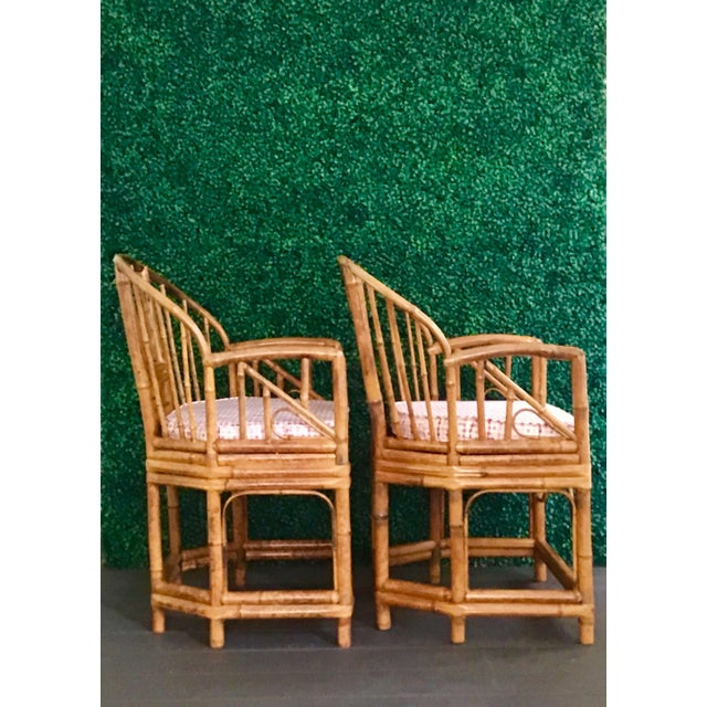 Asian 1980s Vintage Brighton Bamboo ChairsA Pair For Sale - Image 3 of 13