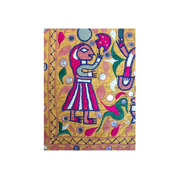 Indian Embroidered Banner For Sale - Image 4 of 5