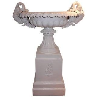 Garden Urn, Tall Victorian Cast Iron For Sale