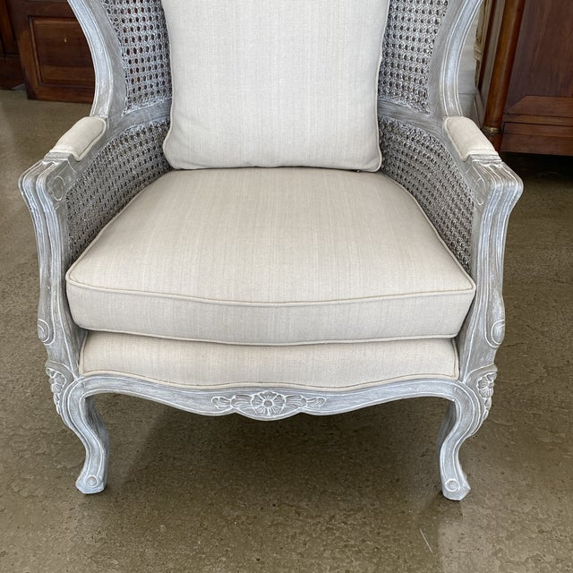 French Balloon Caned Porters Canopy Chairs - a Pair For Sale - Image 12 of 13