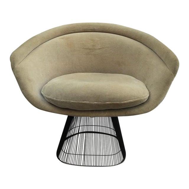 Platner for Knoll Sandstone Velvet Lounge Chair For Sale