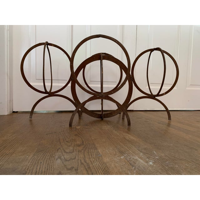 Metal Post Modern Rust Sculpture For Sale In Dallas - Image 6 of 6