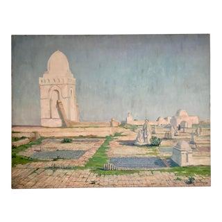 Late 19th Century Vintage Moorish Oil Painting For Sale