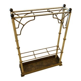 1960s French Sleek Beautifully Made Narrow Iron Umbrella Stand For Sale