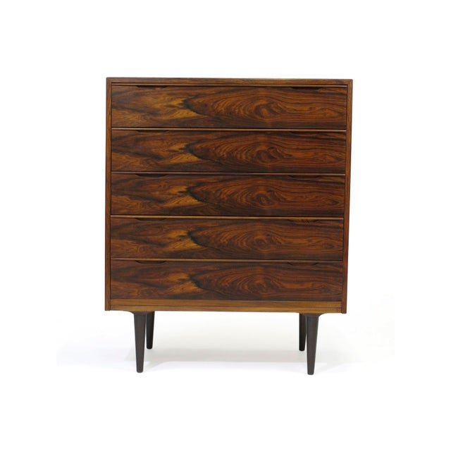Vintage Mid Century Danish Brazilian Rosewood Chest of Drawers For Sale - Image 12 of 12