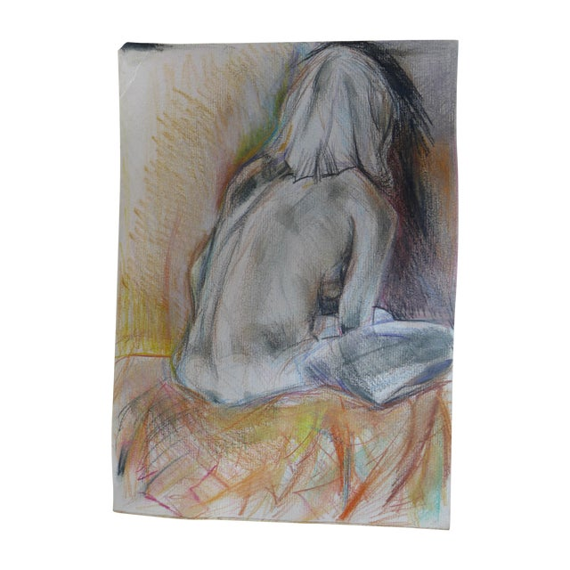 Thinking of You, Pastel on Paper Drawing - Image 1 of 4