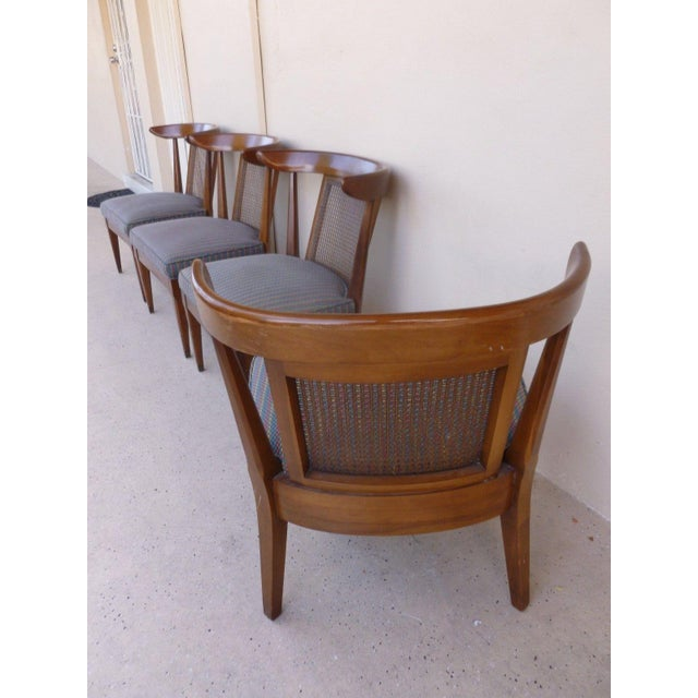 1950's Vintage Klismos Style Slipper Chairs- Set of 4 For Sale - Image 4 of 7