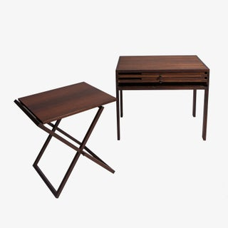 Illum Wikkelso Rosewood Side Table With 3 Folding Tables Preview