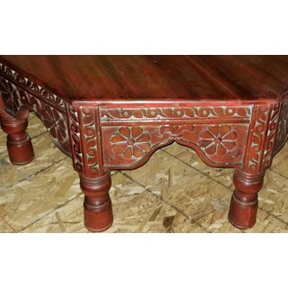 Antique Asian Style Solid Wood Carved Octagonal Low Coffee Table Preview