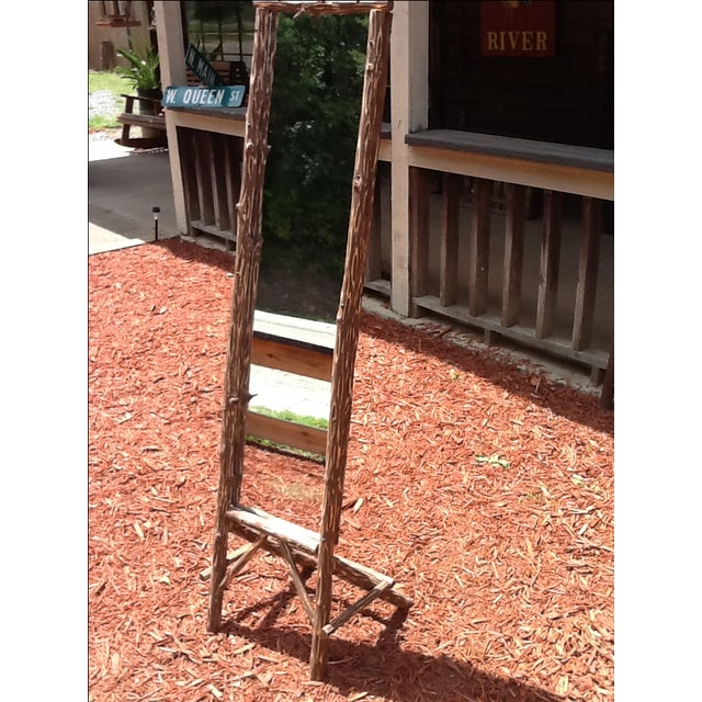 Rustic Standing Mirror - Image 5 of 7