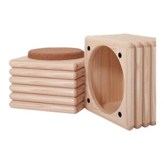 White Ash Ridge Stool With Cork For Sale