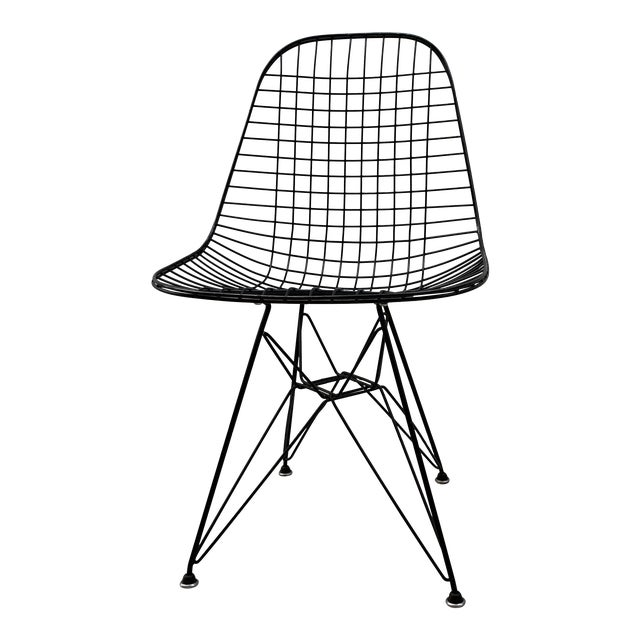 Mid Century Modern Eames Herman Miller Wire Chair For Sale