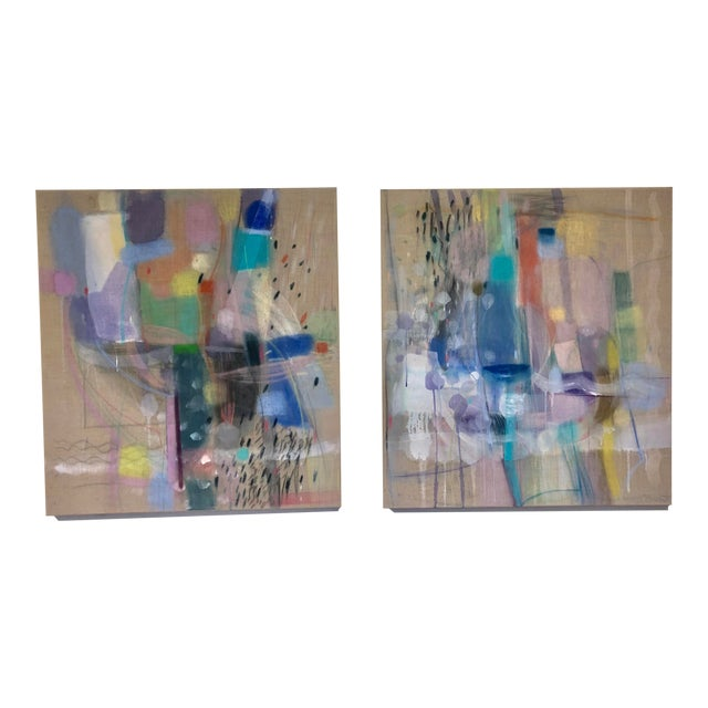 """Michelle Armas """"Candy Empire"""" and """"Enamorada"""" Paintings - a Pair For Sale"""