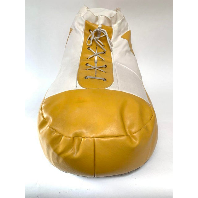 Ueli Berger 1970s White and Yellow De Sede Sneaker Bean Bag Chair or Ottoman For Sale - Image 4 of 12