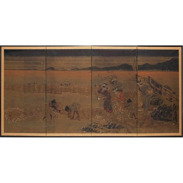 1880 Japanese Byobu Screen For Sale