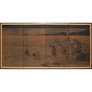 1880s Japanese Byobu Screen For Sale