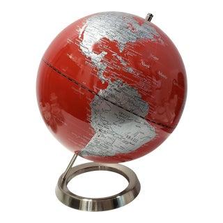 Vintage Modern Rotating World Globe For Sale