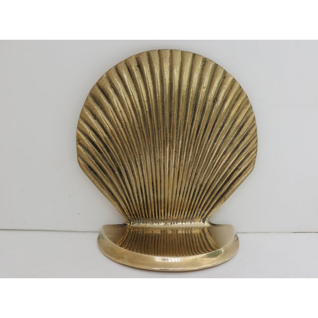 Vintage Brass Seashell Bookends - A Pair - Image 7 of 7