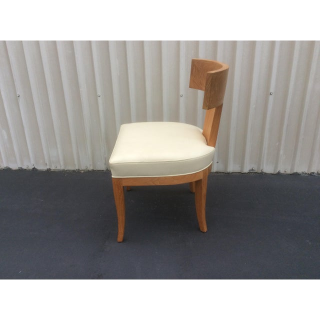 Mid Century Style Ceres Chair With Leather Seat by Ironies For Sale In San Antonio - Image 6 of 11