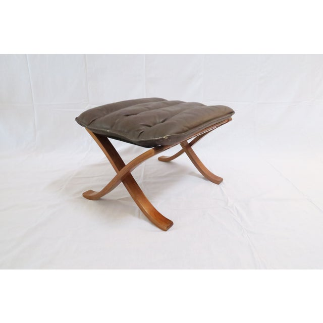 Vintage Westnofa Safari Chair & Ottoman - A Pair - Image 7 of 9