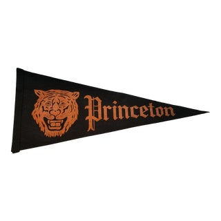 1950s Vintage Felt Princeton Full Size Pennant For Sale