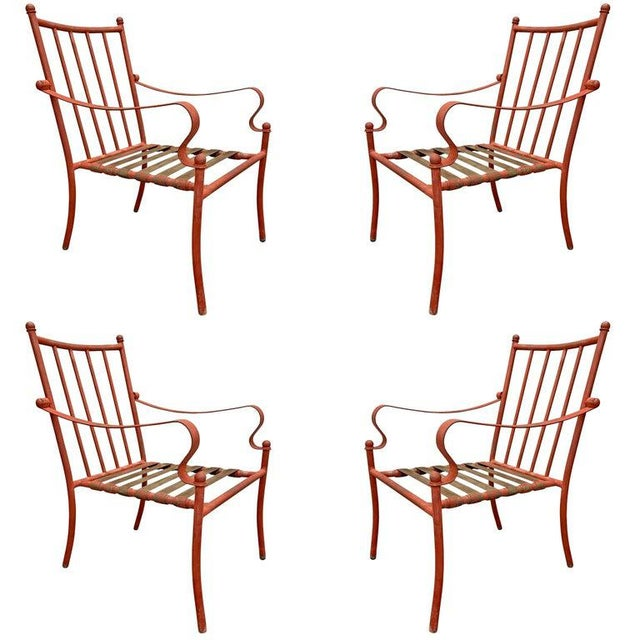 Set of Four Mid-20th Century American Iron Patio Chairs For Sale - Image 12 of 12