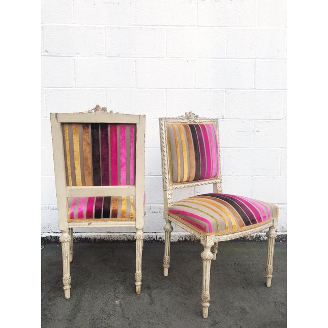 Mid 19th Century Antique French 19th Century Louis XVI Side or Hall Chairs - Set of 2 For Sale - Image 5 of 11