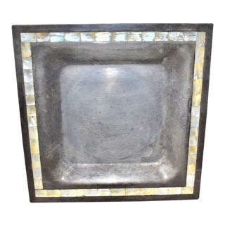 Vintage Towle Tray With Mother of Pearl Border For Sale