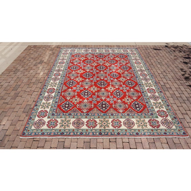 Turkish Hand Knotted Kazak Rug - 9′ × 11′10″ For Sale In Orlando - Image 6 of 6