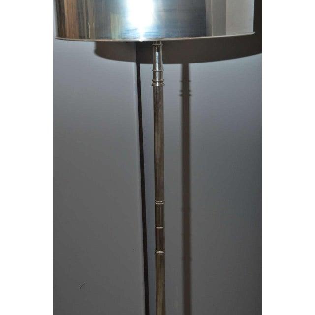 Sleek Modern Nickel Floor Lamp - Image 3 of 6