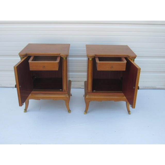 1950s French Maple Nightstands - A Pair - Image 2 of 10