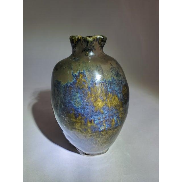 Mercury Glazed Handmade Pomegranate Porcelain Vase For Sale - Image 4 of 12
