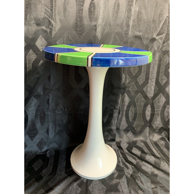 Ceramic 1960s Raymor Ceramic Pottery Tulip Shape Side Table, Made in Italy For Sale - Image 7 of 10